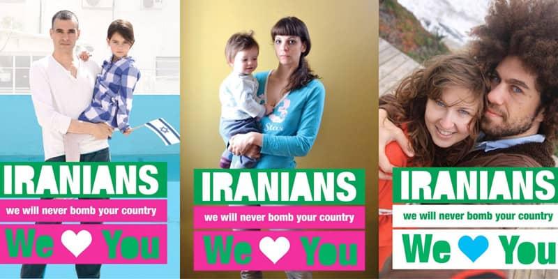 Usando um cartaz, um pai diz não à guerra entre Irã e Israel 6