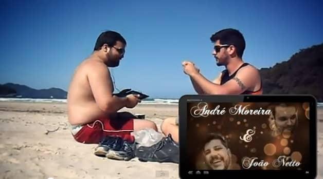 Um lindo pedido de casamento na praia 2