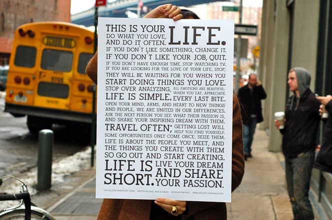 Um manifesto que conta algumas das verdades mais valiosas 2