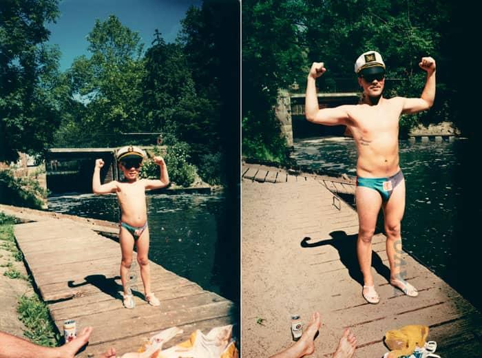Fotógrafa recria fotos as mesmas fotos de crianças agora como adultos 26