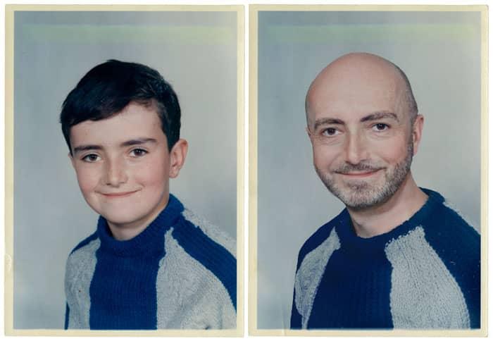 Fotógrafa recria fotos as mesmas fotos de crianças agora como adultos 18