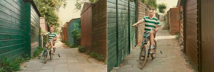 Fotógrafa recria fotos as mesmas fotos de crianças agora como adultos 20