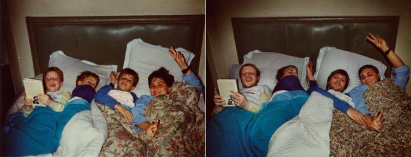Fotógrafa recria fotos as mesmas fotos de crianças agora como adultos 7