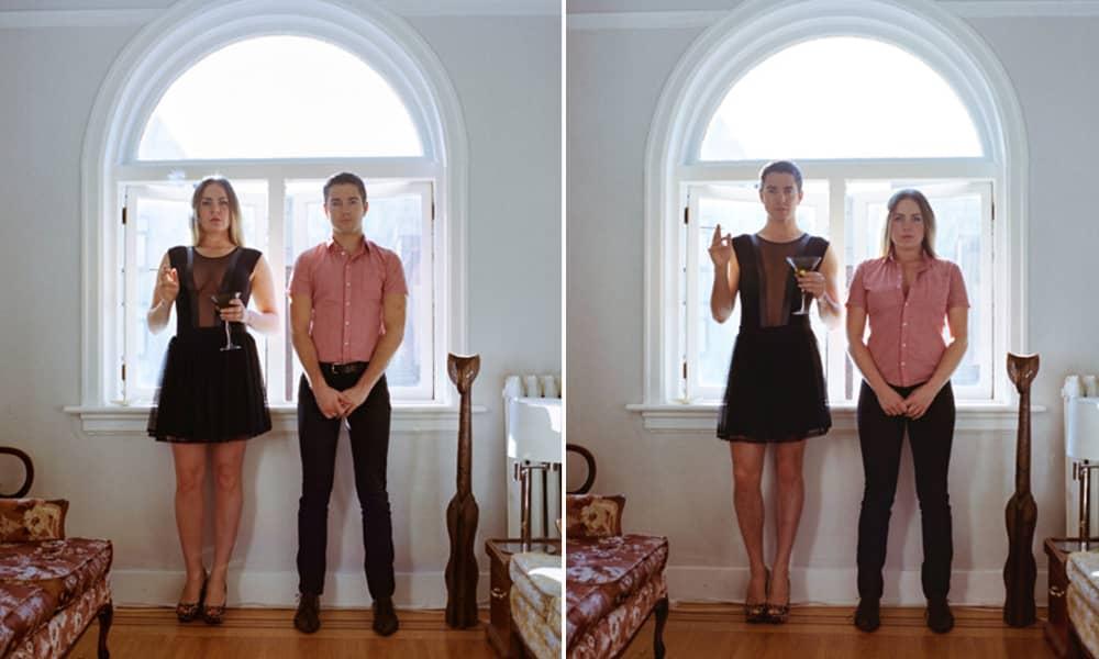 Projeto reúne fotos de casais com roupas invertidas 20