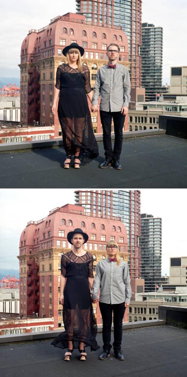 Projeto reúne fotos de casais com roupas invertidas 12