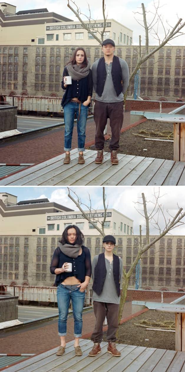 Projeto reúne fotos de casais com roupas invertidas 14