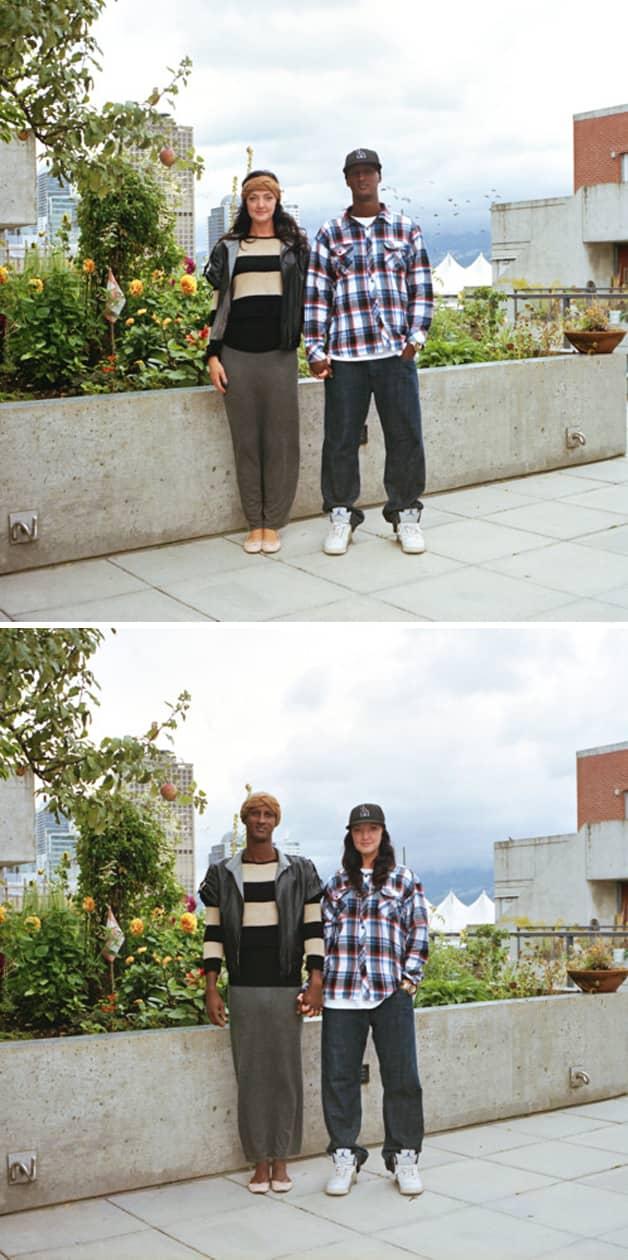 Projeto reúne fotos de casais com roupas invertidas 17