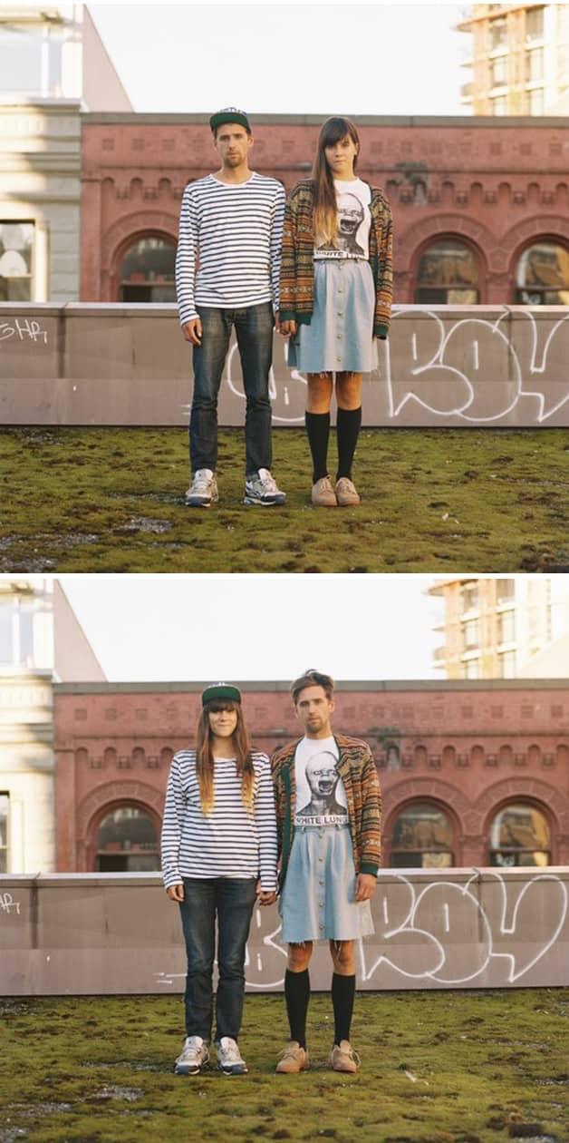 Projeto reúne fotos de casais com roupas invertidas 2