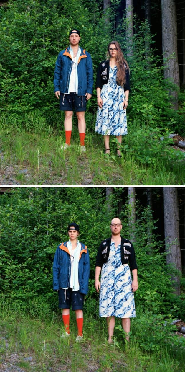 Projeto reúne fotos de casais com roupas invertidas 5