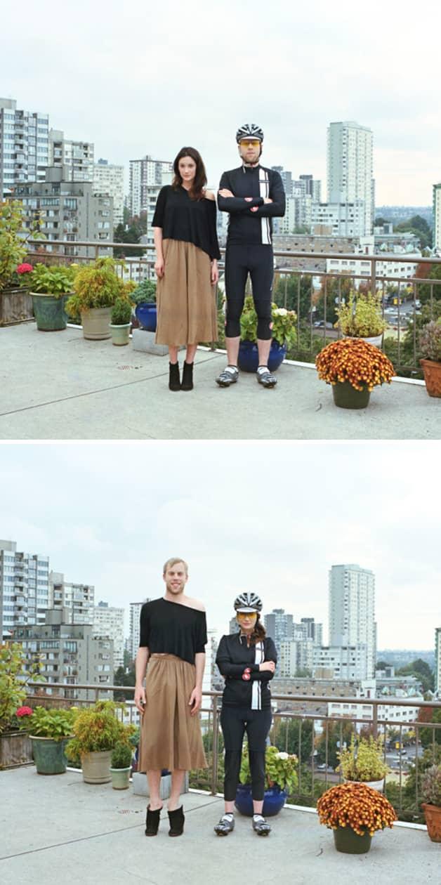 Projeto reúne fotos de casais com roupas invertidas 6