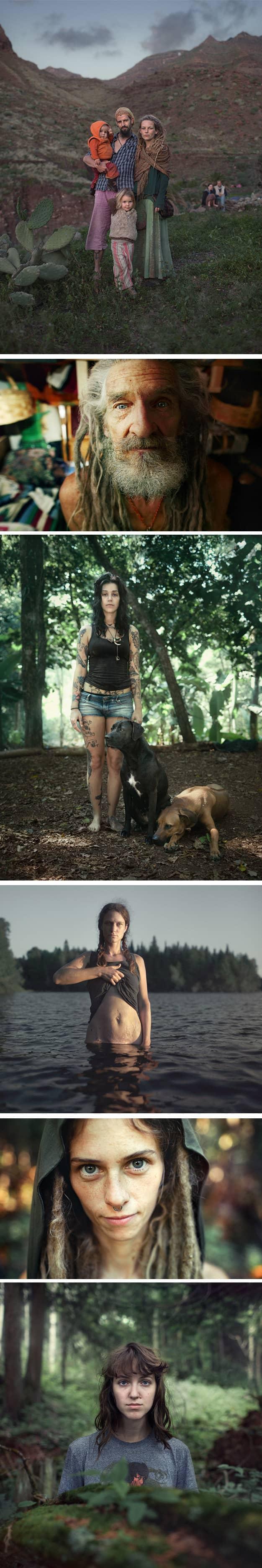 Fotógrafo retrata realidade secreta de grupo nômade com leis baseadas no amor 3