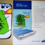 Samsung presenteia cliente com celular personalizado, único no mundo 10
