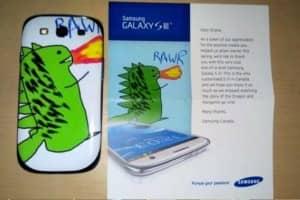 Samsung presenteia cliente com celular personalizado, único no mundo 1