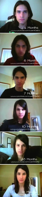 Homem tira fotos durante 3 anos e retrata o processo de transformação em mulher 2