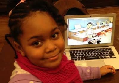 Menina de 7 anos cria aplicativo de game 3