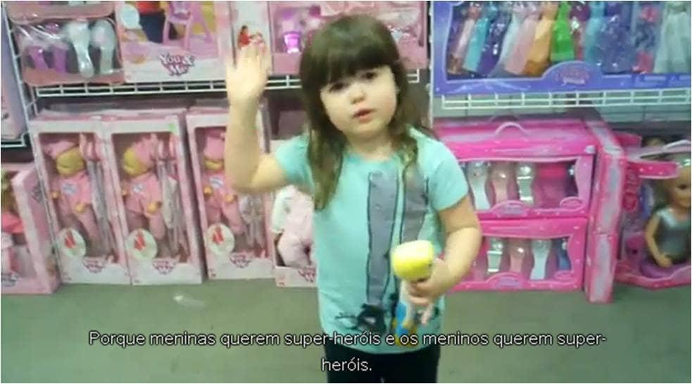 Menina questiona o sexismo da indústria de brinquedos 2
