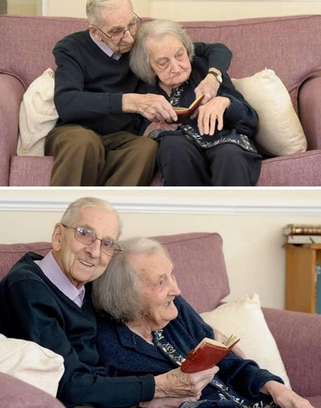 esposa com amnésia presta atenção na leitura