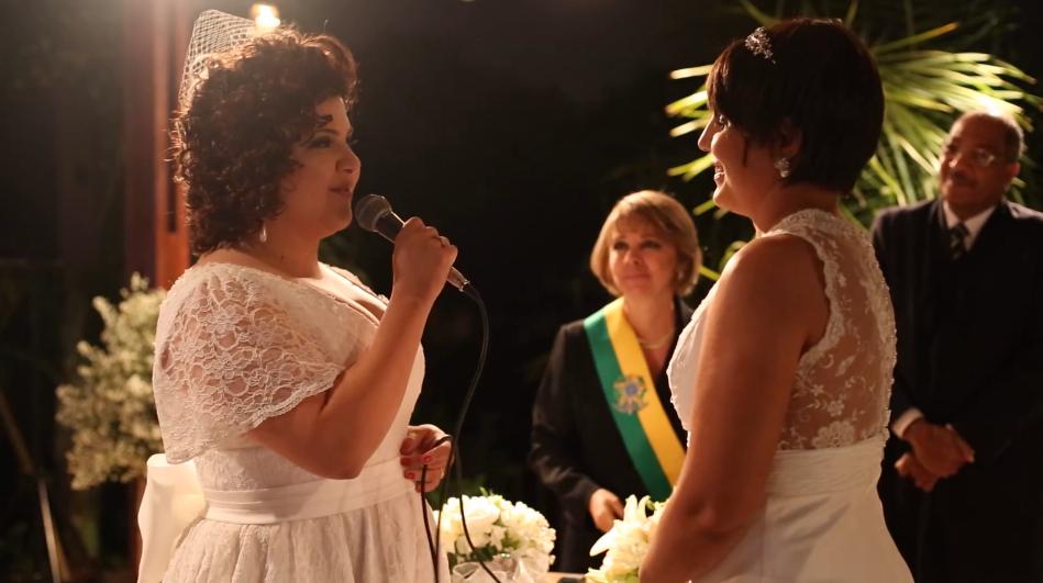 Mesmo com câncer, Fabi não adia o lindo casamento com Mari 6