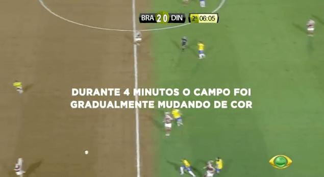 """WWF """"desmata"""" campo de futebol ao vivo durante jogo da Seleção Brasileira 3"""