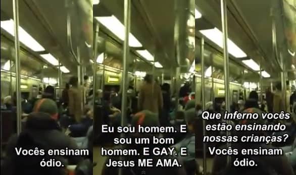Gay enfrenta pastor homofóbico em metrô e é aplaudido 1