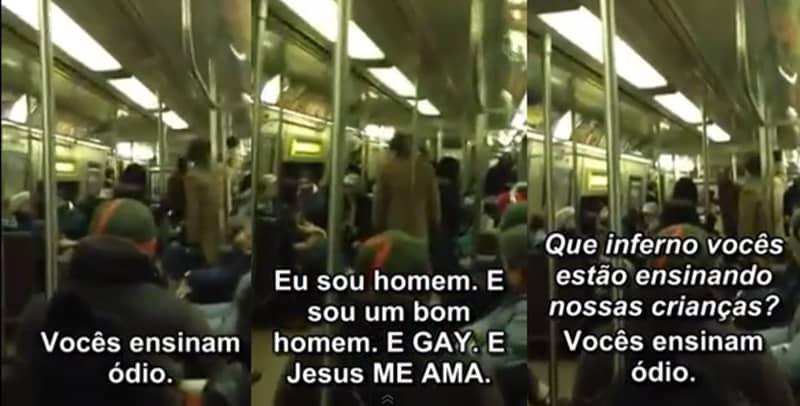Gay enfrenta pastor homofóbico em metrô e é aplaudido 5