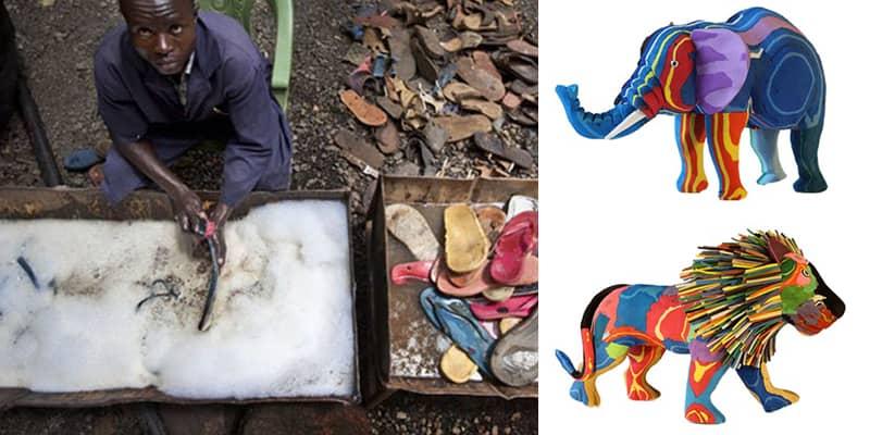 Chinelos velhos viram brinquedos na África e já tiraram mais de 400 toneladas de lixo do Oceano 1