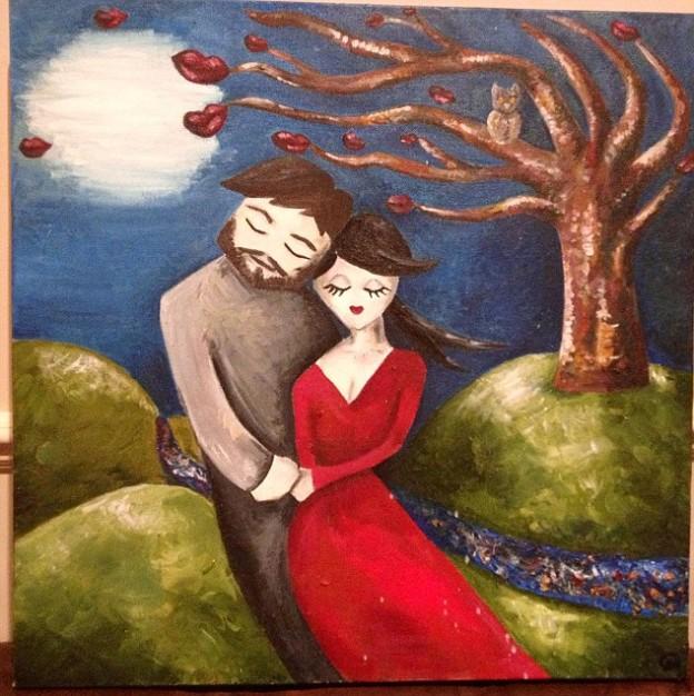 """Artista pinta o """"Homem de seus sonhos"""" dois meses antes de conhecê-lo! 1"""