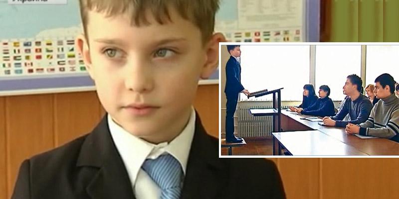 Garoto de 9 anos dá aulas em uma das melhores universidades da Ucrânia 1