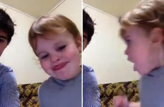 Criança ensina que não podemos falar palavrão 1