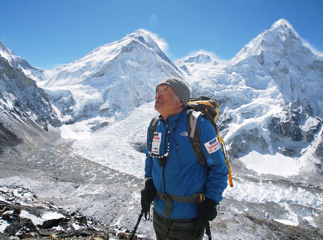 Aos 80, japonês com problemas cardíacos chega ao topo do Everest 3