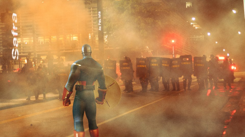 Super-heróis são 'chamados' por publicitários para participar dos protestos pelo Brasil 2