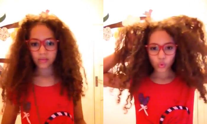 Menina de 10 anos se recusa a alisar cabelo e faz vídeo para incentivar outras meninas 1