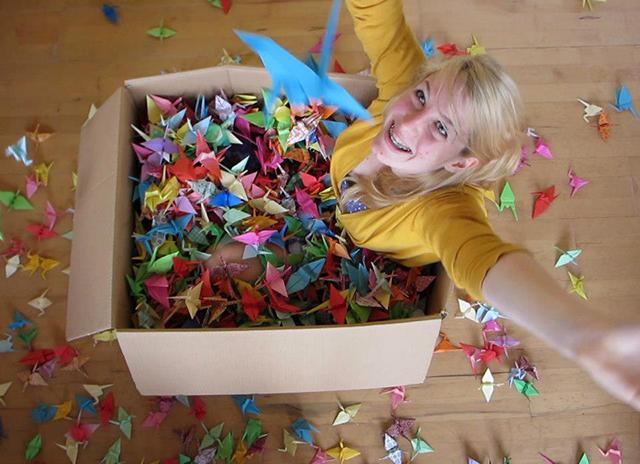 Jovem fez 1000 pássaros de origamis e distribuiu a 1000 pessoas desconhecidas 1