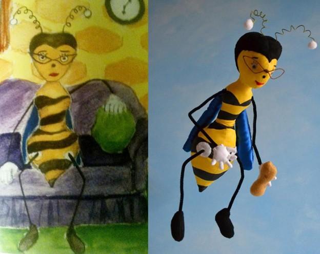 Desenhos de crianças transformados em bichinhos de pelúcia 3