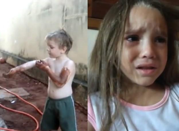 Duas crianças manifestam sua vontade serem negros 1