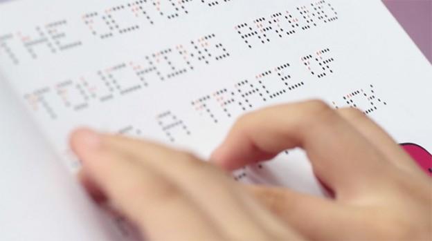 Um alfabeto que possibilita tanto os cegos quanto os que enxergam a ler o mesmo livro 1