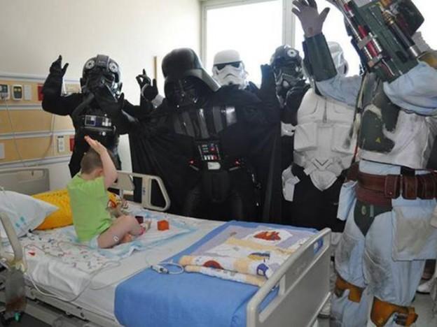 """Darth Vader """"do bem"""" faz ação por crianças com câncer no RS 1"""