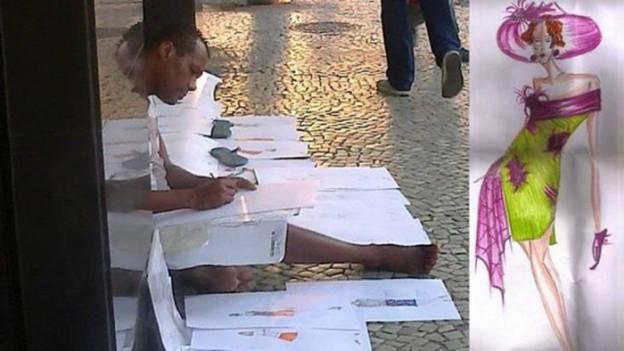 Estilista de rua que cobra R$ 1 por croqui e consegue visibilidade graças a um post no facebook 2