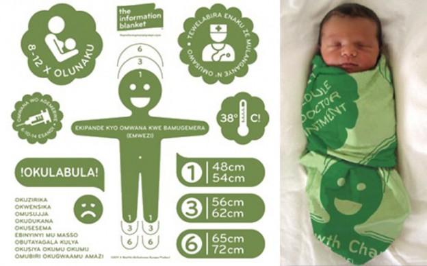 Vida de bebês são salvas através de lençol com informações sobre cuidados básicos infantis 1
