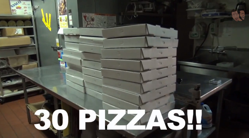 30 pizzas