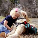 Cachorro carrega balões de oxigênio para ajudar menina que precisa de ajuda para respirar 10