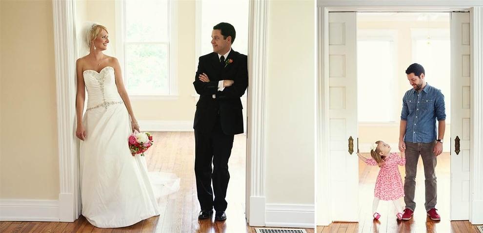 2 anos depois de perder sua mulher para o câncer, homem recria fotos do casamento com sua filha pequena 3