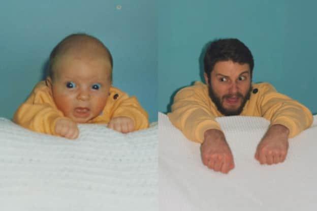 Irmãos reproduzem suas fotos de criança e se divertem 2