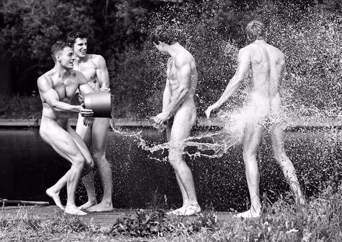 Para combater homofobia, equipe de remo britânica posa sem roupa para calendário 1