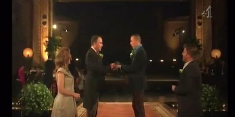 Casal gay celebra o casamento em forma de musical 2