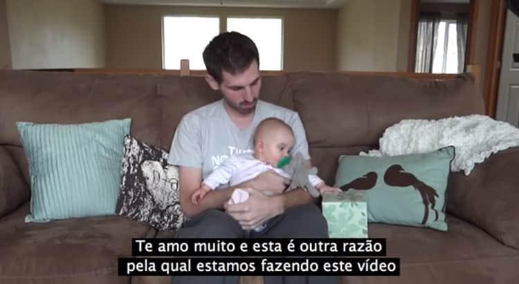 Antes de morrer, pai grava vídeo emocionante de despedida para filha de 7 meses 3