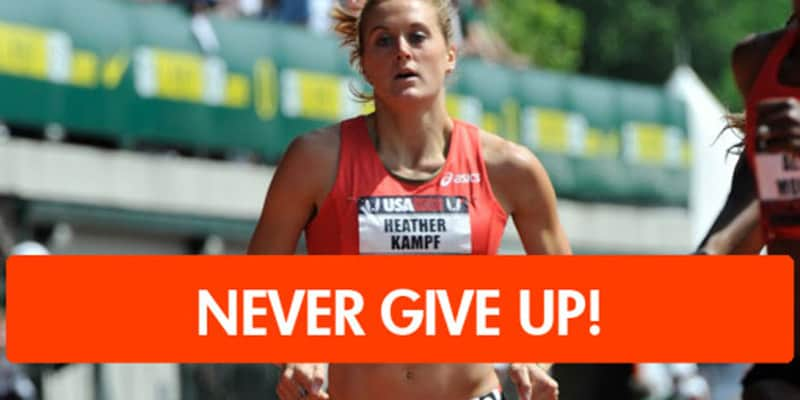Uma lição de persistência e coragem de uma atleta que caiu durante uma corrida 2