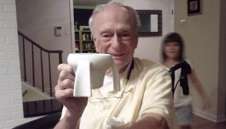 Para ajudar avô com Parkinson, criança de 11 anos cria canecas difíceis de entornar 1