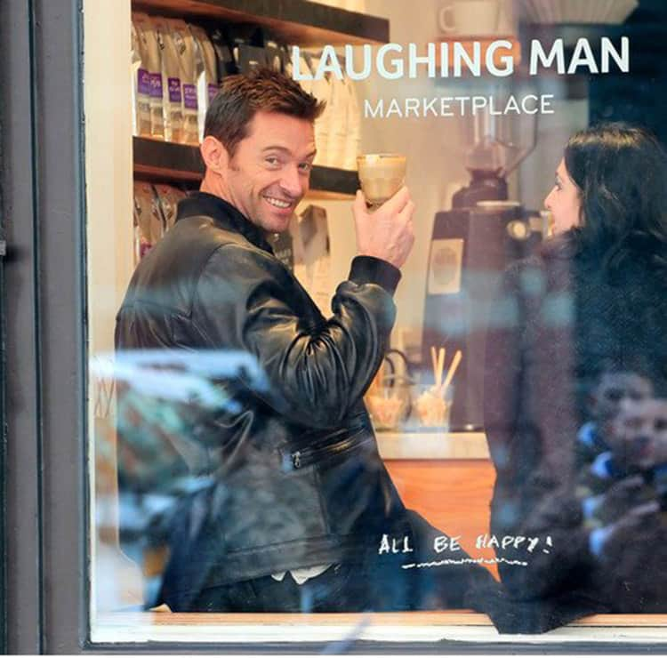 Hugh Jackman Laughing Man