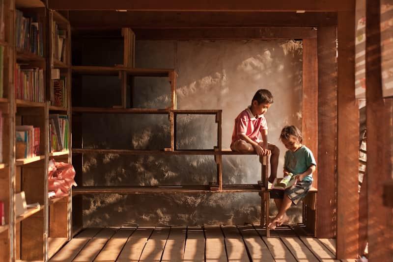 Bibliotek, Safe Haven Orphanage, Ban Tha Song Yang, Thailand